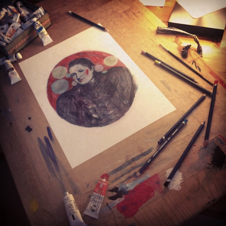 Series of mixed media illustrations I am working on titled War at Home