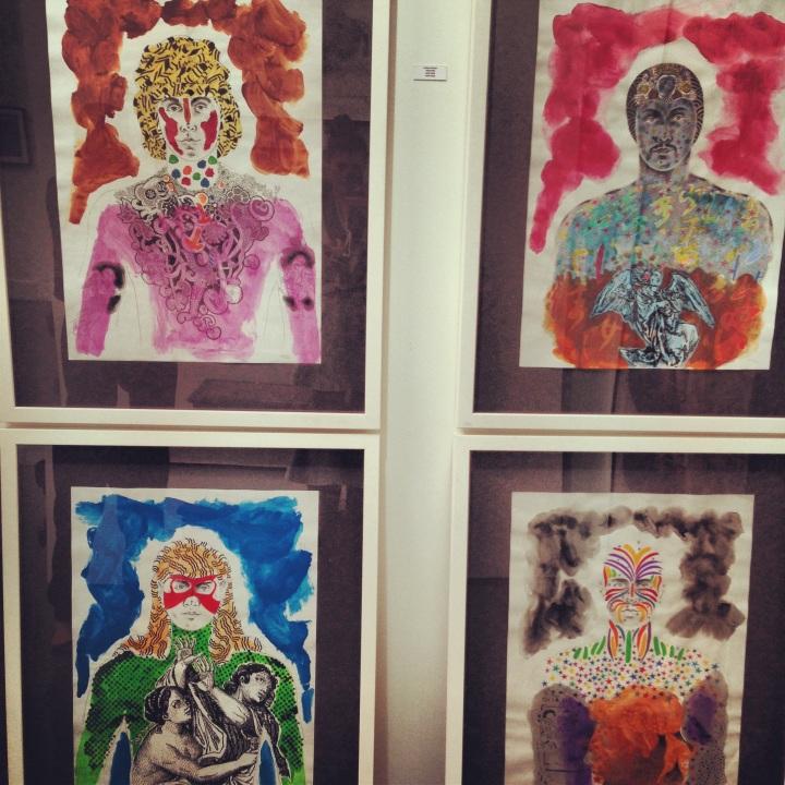Andrew Verster's Artwork at the Showcase Gallery, Dubai
