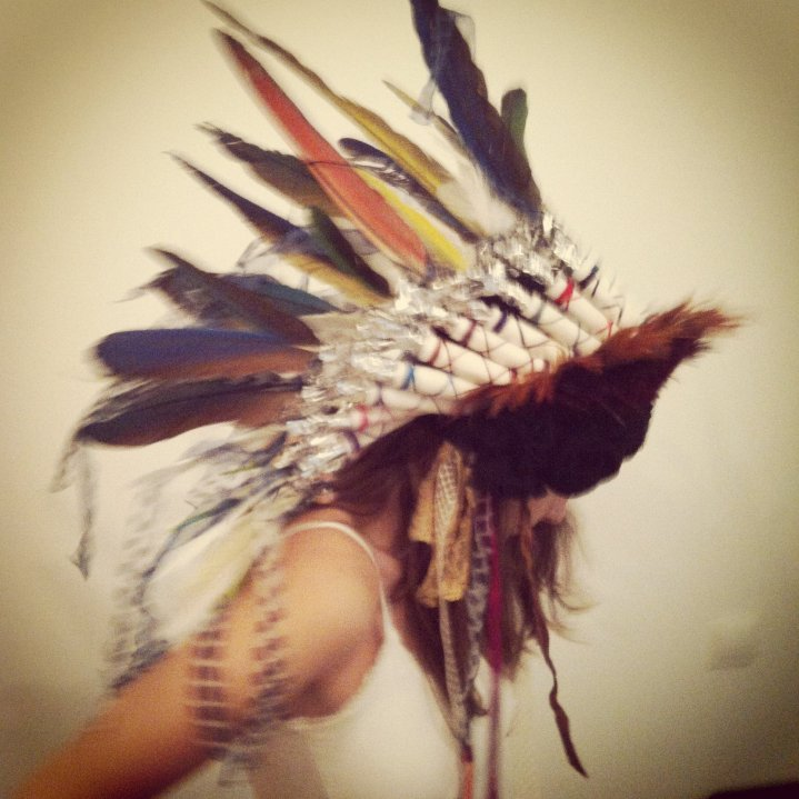 Headpiece made from recycled materials