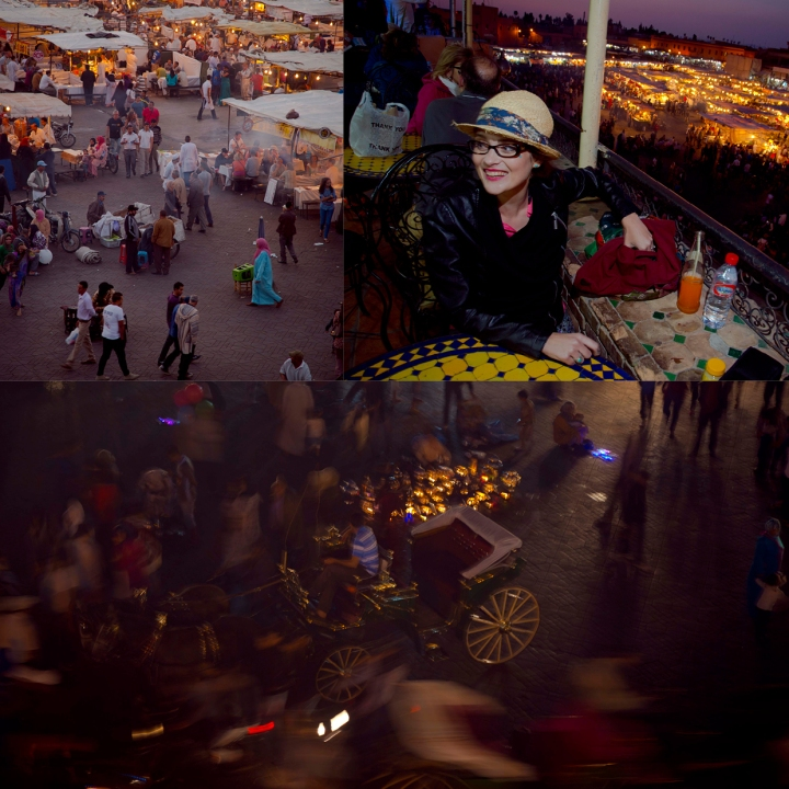 Marrakech at night (top right image by Celeste Muller)