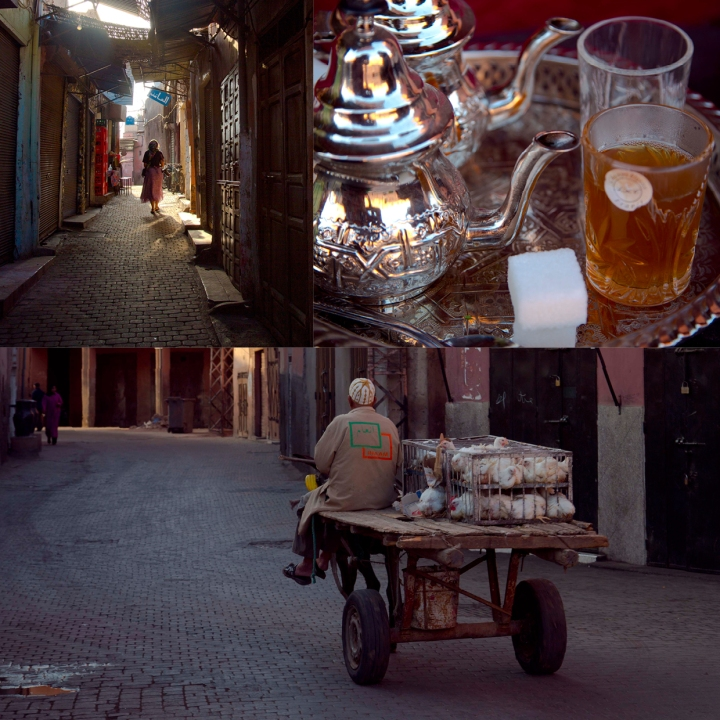 Streets of Marrakech in the early mornings