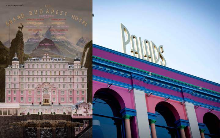 Day 4: Poster of The Grand Budapest Hotel and Palads