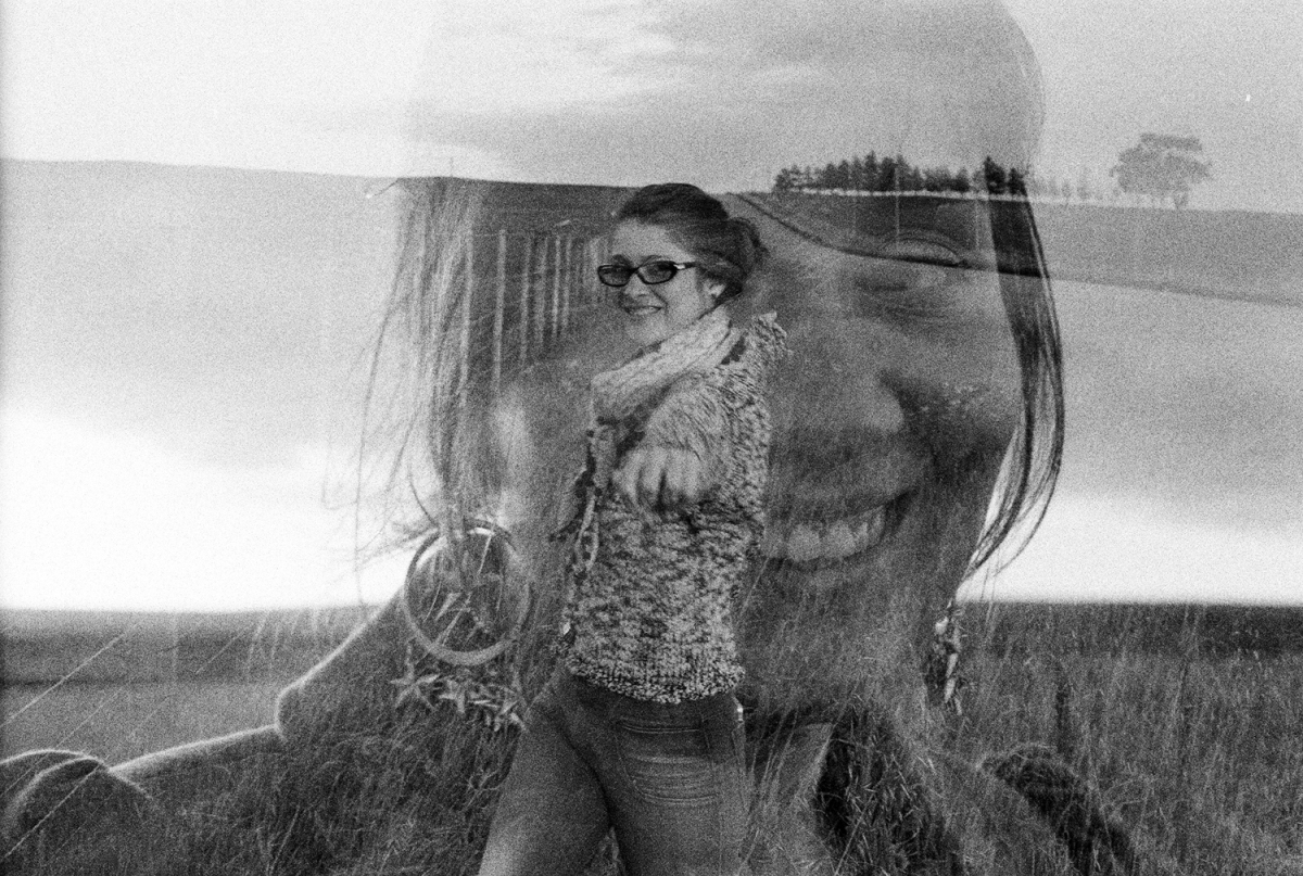 Sister Leave (A double exposure portrait of me and my sister)