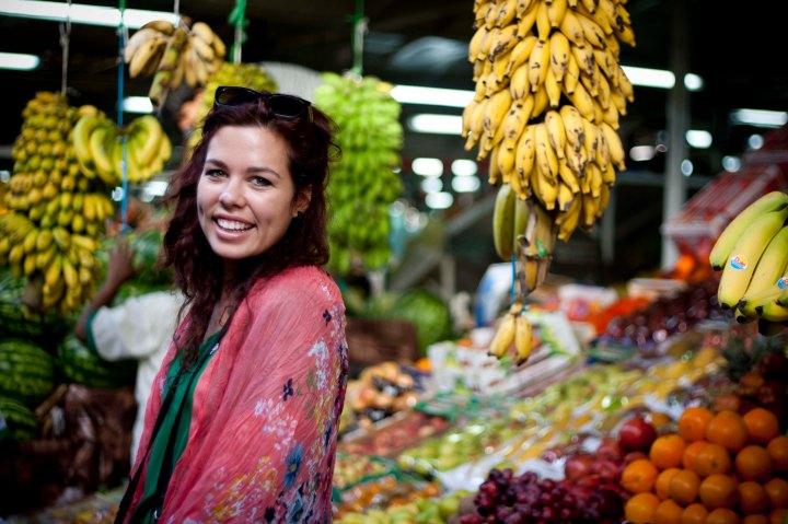Celeste at the Fruit and Vegetable Market - Dubai, United Arab Emirates