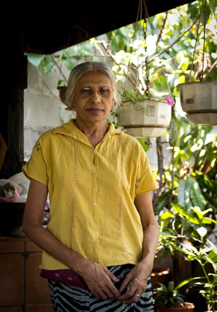 Waruna's Mother in her Sectret Rooftop Garden - Kandy, Sri Lanka